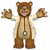 Il dottore Bear Fotografia Stock Libera da Diritti