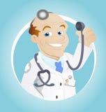 Medico - personaggio dei cartoni animati - illustrazione di vettore Fotografia Stock Libera da Diritti