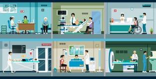 Il dottore e paziente illustrazione di stock