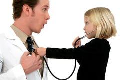 Il dottore e paziente fotografie stock