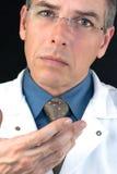 Il dottore Expresses Concern Immagine Stock