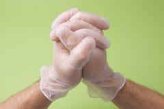 Il dottore Hands In Prayer della chirurgia Fotografia Stock Libera da Diritti