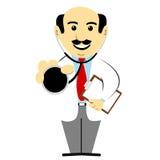 Il dottore Holding Stethoscope royalty illustrazione gratis