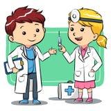 Il dottore Kids Immagine Stock