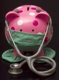 Il dottore la Banca Piggy Fotografia Stock