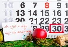 Il dottore nazionale Day di festa sul calendario Fotografia Stock Libera da Diritti