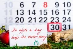 Il dottore nazionale Day di festa sul calendario Immagini Stock Libere da Diritti