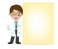 Il dottore Showing NotePaper royalty illustrazione gratis