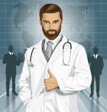 Il dottore With Stethoscope di vettore Fotografia Stock Libera da Diritti