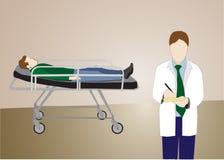 Il dottore Writing Prescription Immagini Stock