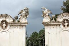 Il drago alato della villa Borghese, fotografie stock