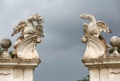Il drago alato della villa Borghese, Roma fotografie stock