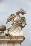 Il drago alato della villa Borghese, Roma immagine stock libera da diritti