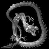 Il drago d'argento, illustrazione 3D Immagini Stock