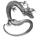 Il drago d'argento, illustrazione 3D Immagine Stock