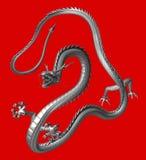 Il drago d'argento, illustrazione 3D Fotografia Stock Libera da Diritti