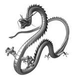 Il drago d'argento, illustrazione 3D Fotografie Stock