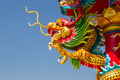 Il drago e Phoenix cinesi asiatici, cultura cinese Fotografie Stock Libere da Diritti