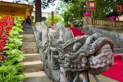 Il drago fa un passo alla cittadella lunga di Thang a Hanoi, Vietnam fotografie stock libere da diritti