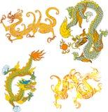 Il drago ha impostato quattordici Immagini Stock Libere da Diritti