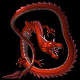 Il drago rosso, illustrazione 3D Fotografia Stock