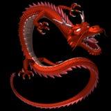 Il drago rosso, illustrazione 3D Immagini Stock Libere da Diritti