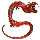 Il drago rosso, illustrazione 3D Immagini Stock