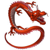 Il drago rosso, illustrazione 3D Fotografie Stock Libere da Diritti