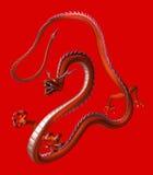 Il drago rosso, illustrazione 3D Fotografia Stock Libera da Diritti