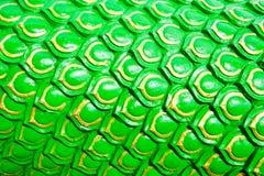 Il drago verde riporta in scala il fondo o lo stucco del serpente immagini stock libere da diritti