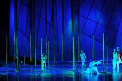 Il dramma di bambù di ballo di storia- della foresta la leggenda degli eroi del condor Fotografie Stock