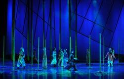 Il dramma di bambù di ballo di storia- della foresta la leggenda degli eroi del condor Fotografia Stock Libera da Diritti