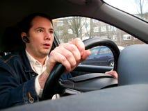 Il driver spaventato Fotografia Stock