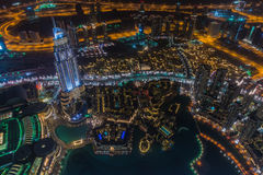 Il Dubai alla notte Fotografie Stock Libere da Diritti