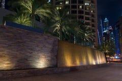Il Dubai alla notte Immagine Stock