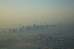 Il Dubai Burg Khalifa Building dall'aria Fotografie Stock Libere da Diritti