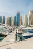 Il Dubai - 10 gennaio 2015: Distretto del porticciolo Fotografia Stock Libera da Diritti