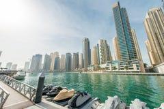 Il Dubai - 10 gennaio 2015: Distretto del porticciolo Immagine Stock Libera da Diritti