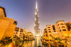 Il Dubai - 9 gennaio 2015: Edificio di Burj Khalifa Immagine Stock Libera da Diritti
