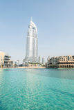 Il Dubai - 10 gennaio 2015: L'hotel di indirizzo sopra Fotografia Stock