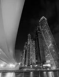 Il Dubai Marina Skyline Immagine Stock Libera da Diritti