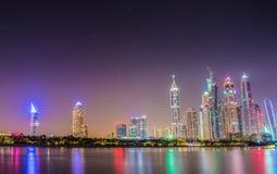 Il Dubai Marina Skyline Immagini Stock