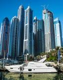 Il Dubai porticciolo AON 14 dicembre 2013 Fotografia Stock Libera da Diritti