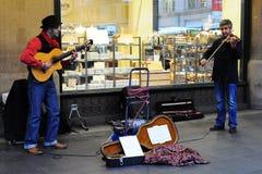 Il duo dello zingaro del Balcani Fotografia Stock