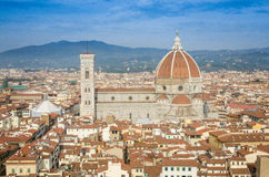Il Duomo from above Royalty Free Stock Images