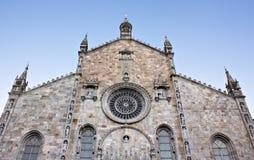 Il duomo di Como (IT) -  The dome, Como (IT). A beautiful landscape of the facade of the dome in Como (IT Royalty Free Stock Photo