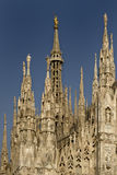 Il Duomo di Milano. Towers and pinnacles at the Duomo of Milano Stock Images