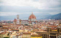 Il Duomo in Florence from Above Stock Photos