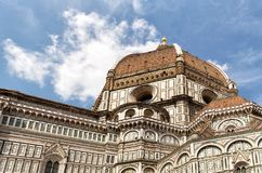 Il Duomo, Florence. View of The Cattedrale di Santa Maria del Fiore (English, Cathedral of Saint Mary of the Flower) is the main church of Florence, Italy. Il Stock Image