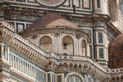 Il Duomo, Florence. View of the Cattedrale di Santa Maria del Fiore (English, Cathedral of Saint Mary of the Flower) is the main church of Florence, Italy. Il royalty free stock images